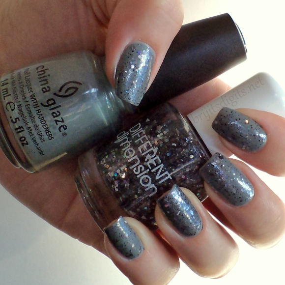 Different Dimension - 50 Shades (over China Glaze - Elephant Walk)