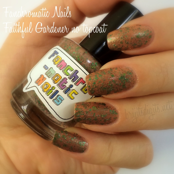 Fanchromatic Nails - Faithful Gardener no topcoat