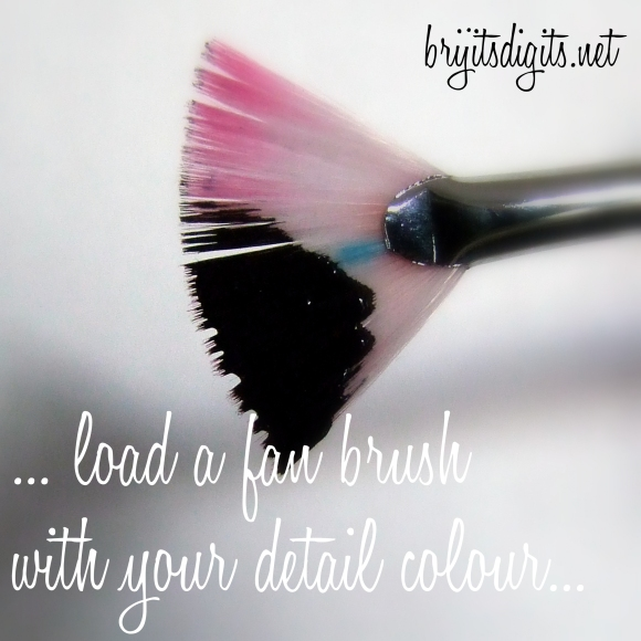 ... load a fan brush with your detail colour...