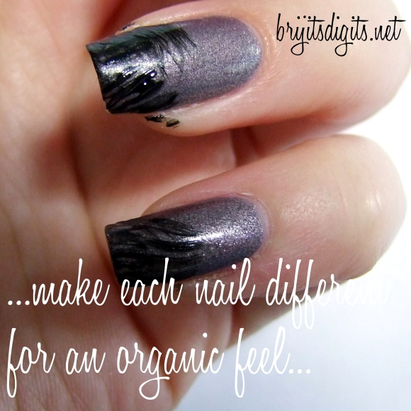 ...make each nail a little different for an organic feel...
