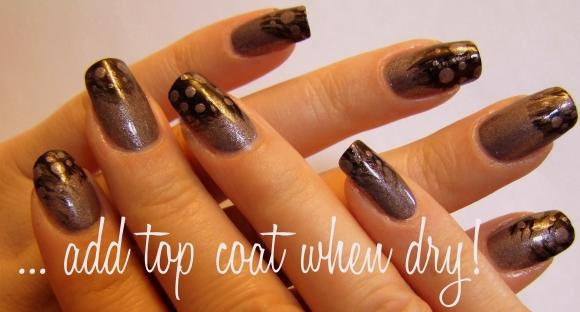 ... add top coat when dry