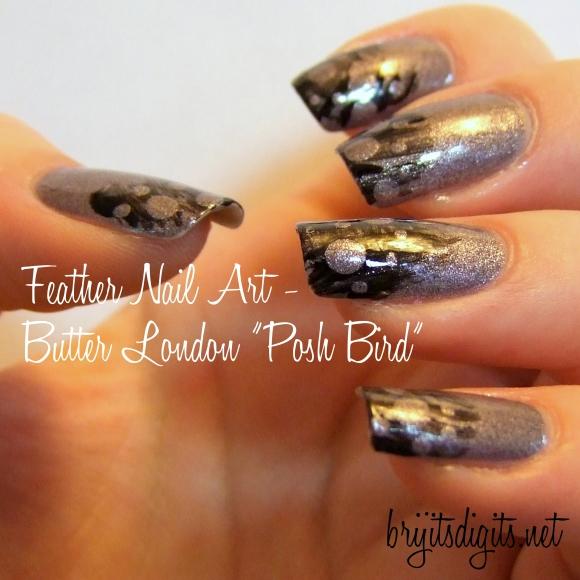 """Feather Nail Art - Butter London """"Posh Bird"""""""