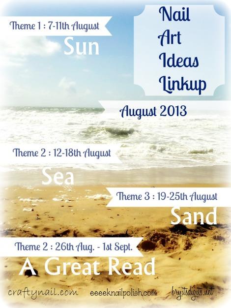 August NAIL Themes SunSeaSandBook