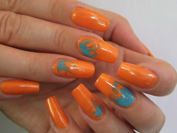 31DC2013 - Orange Nails-001