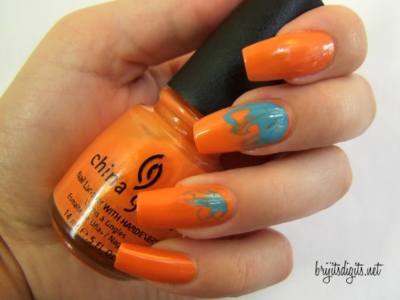 31DC2013 - Orange Nails