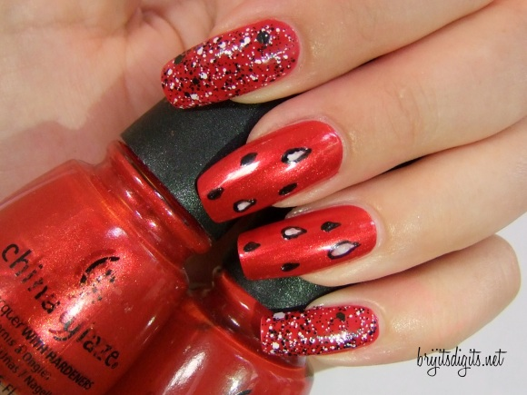 31DC2013 - Red Nails