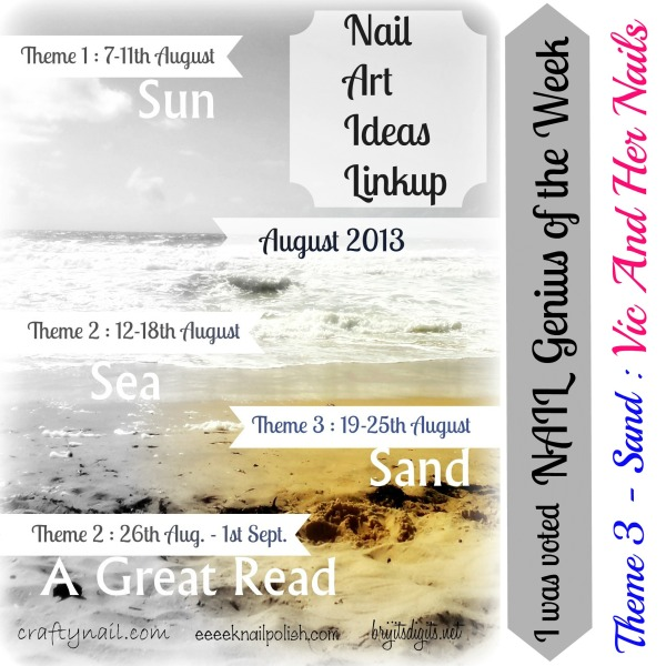 August NAIL Themes Sand Genius
