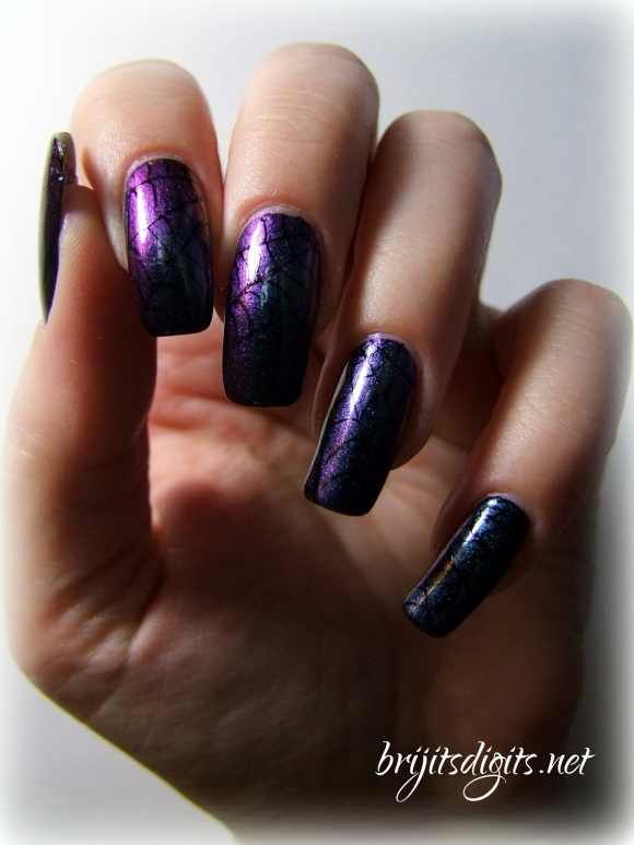 Cobweb Nail Art - Ozotic 505 - Spider Web Manicure-001