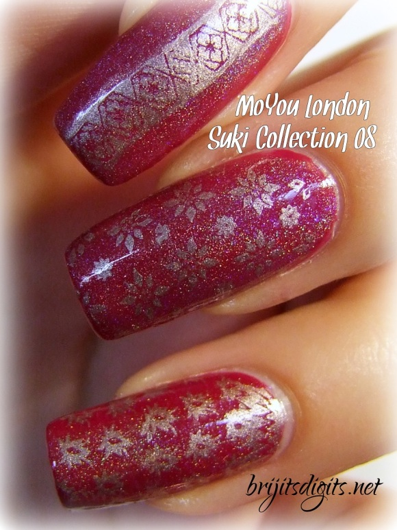 MoYou Suki Collection 08 Nail Art Stamping Plate-003