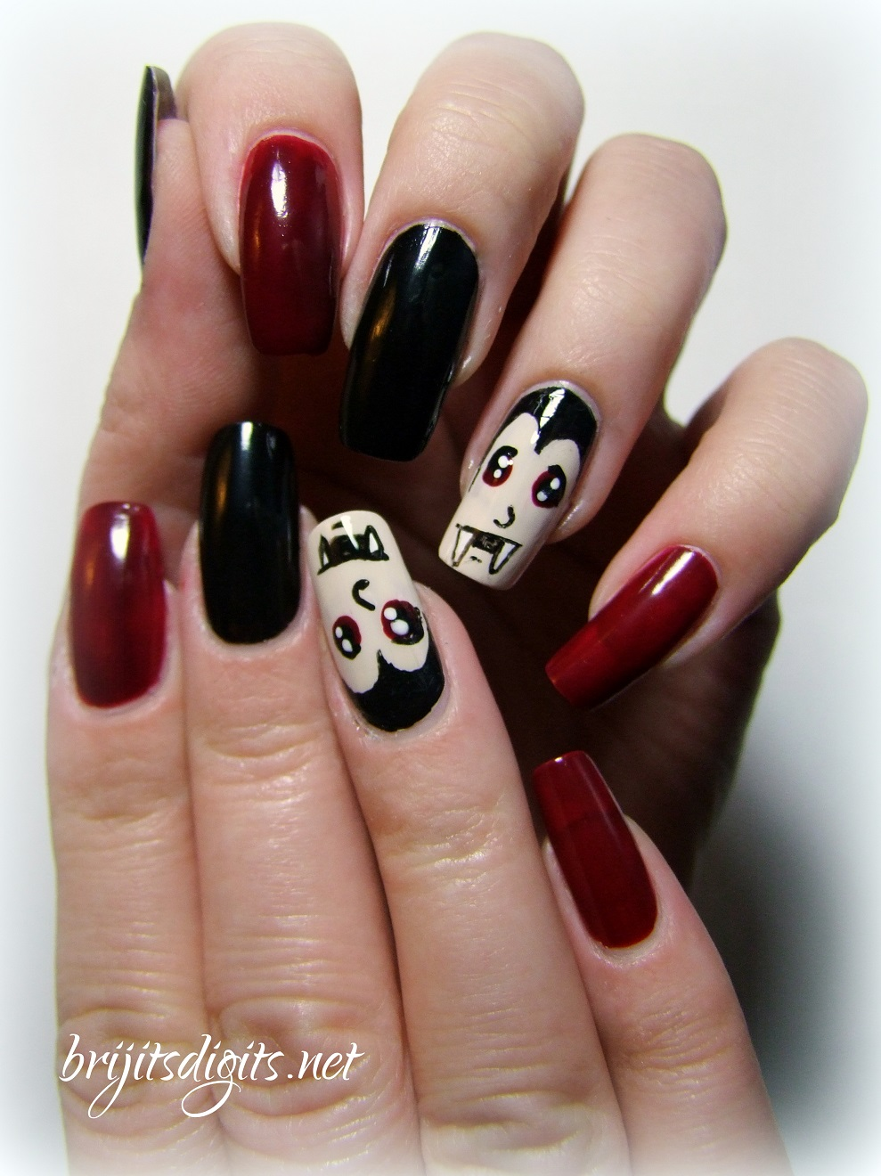 Things that Go Bump in the Night - Vampire Nail Art Brijit's Digits