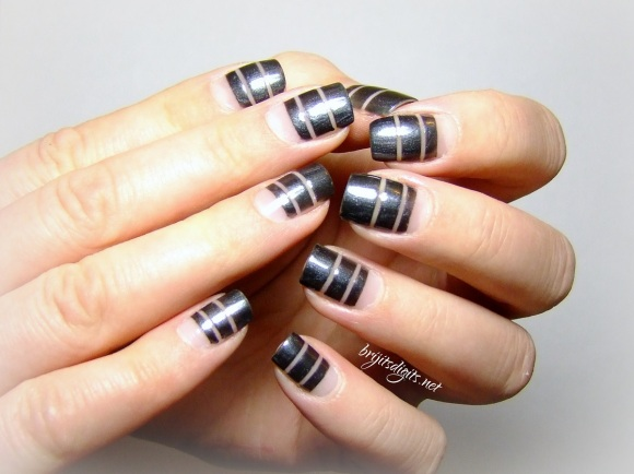 Butter London Chimney Sweep GOT Polish Striping nail art-002