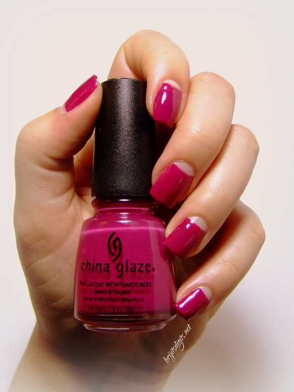 GOT Polish Challenge - Pink - China Glaze - Designer Satin