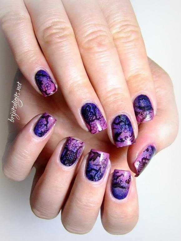 #Naillinkup - Inspired by Pinterest - Gradient Nails Stamping Nail Art-003