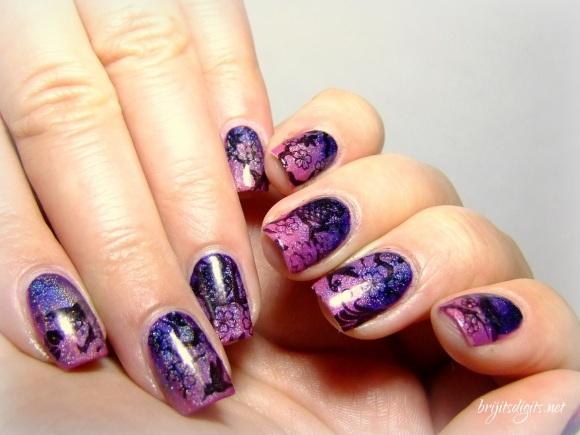 #Naillinkup - Inspired by Pinterest - Gradient Nails Stamping Nail Art-005