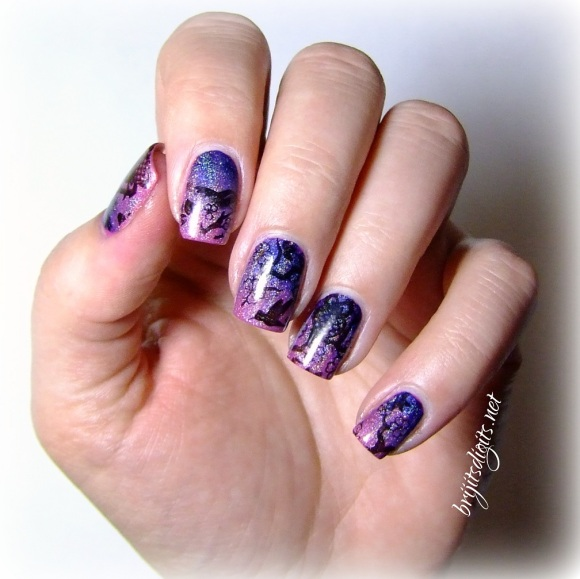 #Naillinkup - Inspired by Pinterest - Gradient Nails Stamping Nail Art