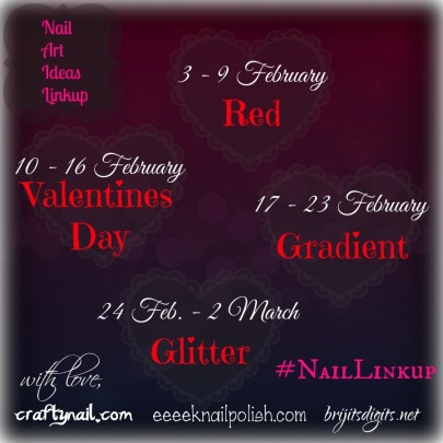 February Nail Art Ideas Linkup Themes