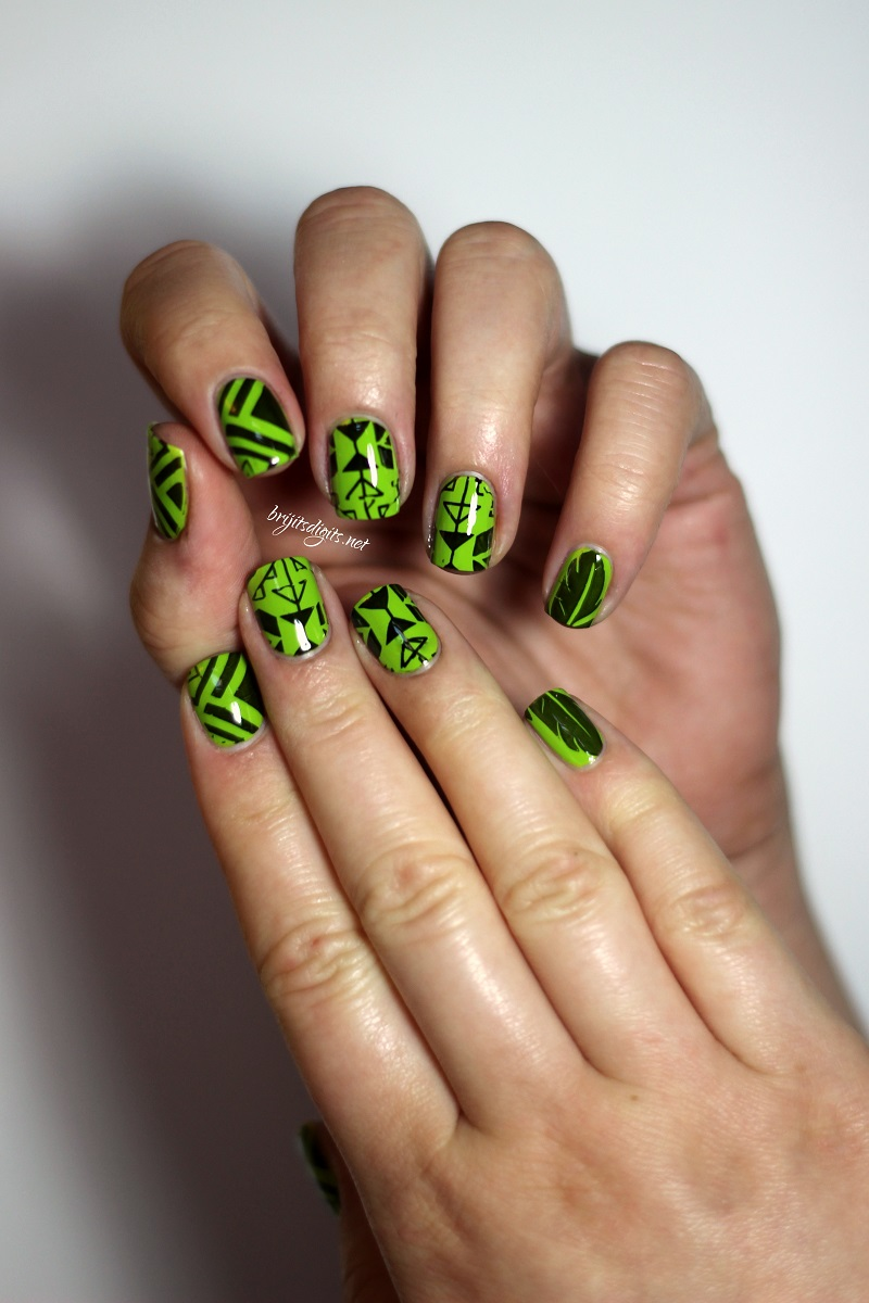 Butter London Jaded Jack & tribal nail art stamping from MoYou ...