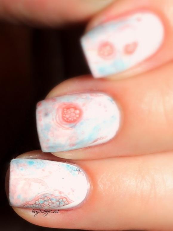 Messy Bubble Nail Art Tutorial Close Up