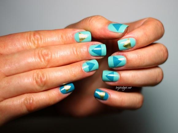 #Naillinkup Aqua Nail Art -001