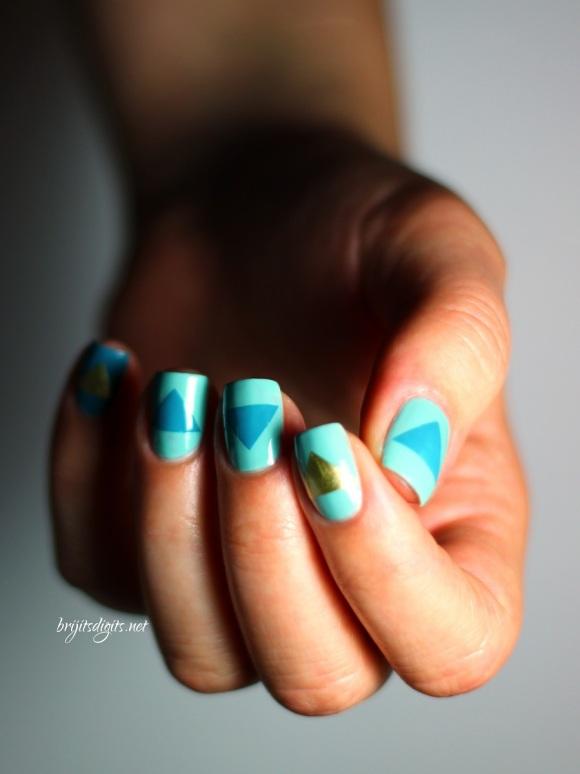 #Naillinkup Aqua Nail Art
