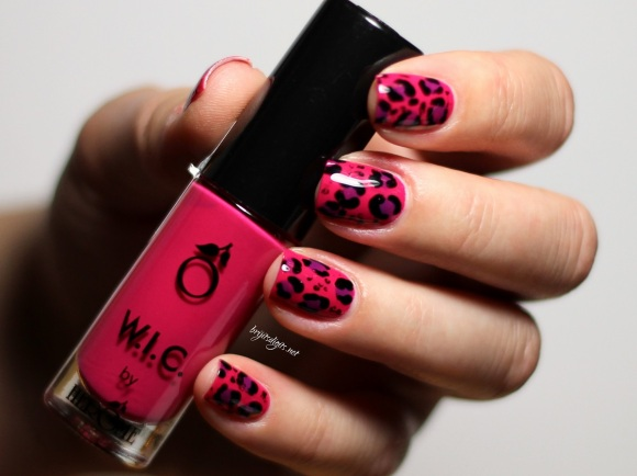 Pink Purple Leopard Nail Art - WIC Herome Las Vegas Barry M Bright Purple