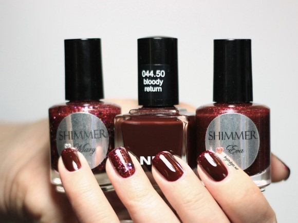 Anny Bloody Return Shimmer Polish Eva and Mary