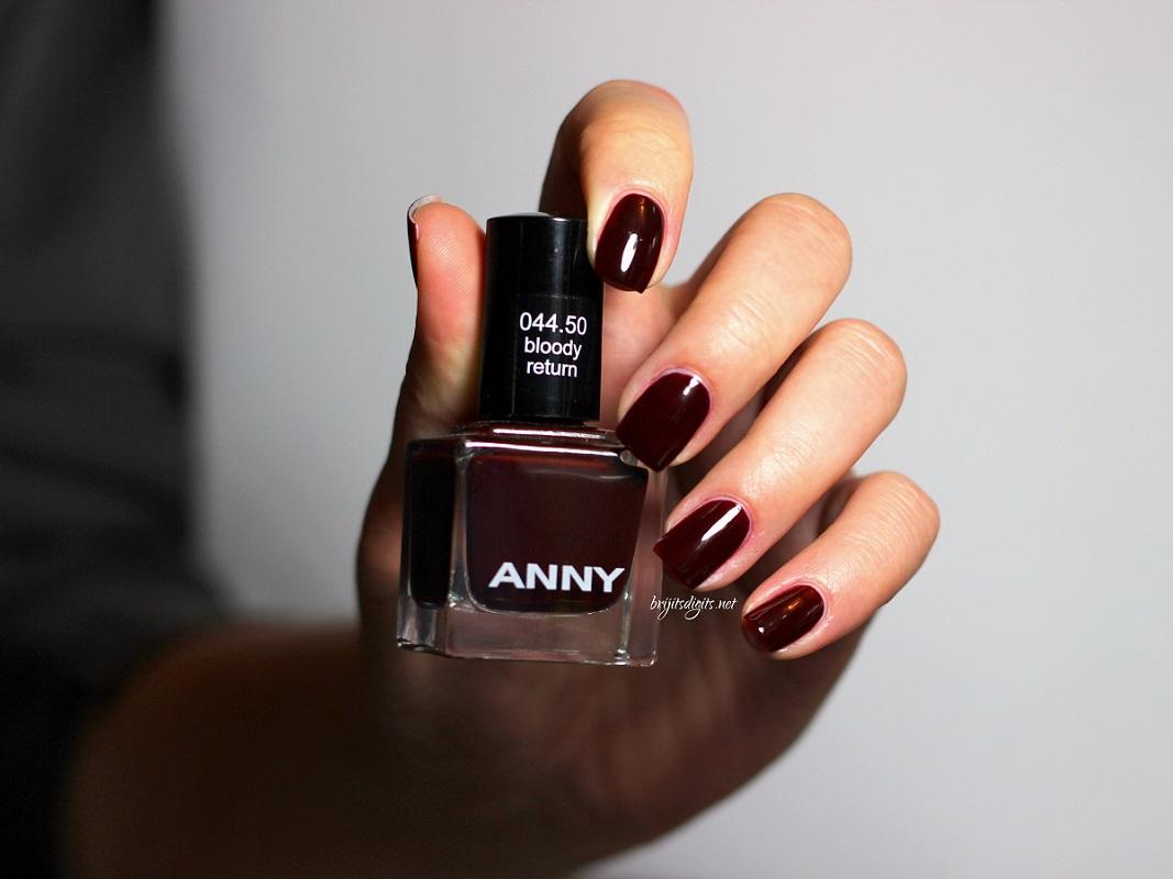 Anny Bloody Return With Shimmer Polish Eva And Mary Nail Art Brijit S Digits