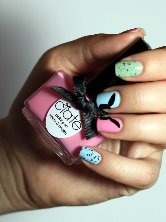 #Naillinkup Easter Nail Art - Ciaté Candy Floss  - Copy