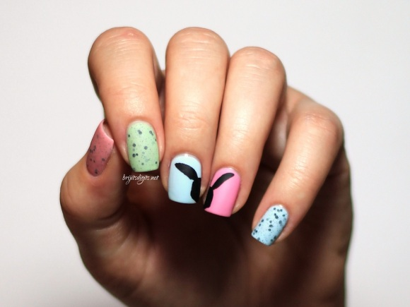 #Naillinkup Easter Nail Art - Mattified  - Copy